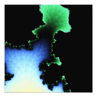 Julia's Joy, Fractal Blobs - Green Blue Black Photo