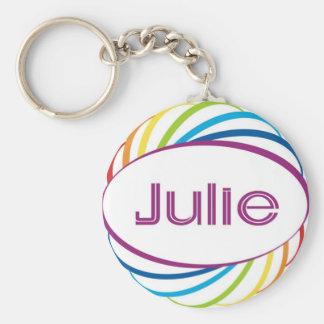 Julie Basic Round Button Keychain