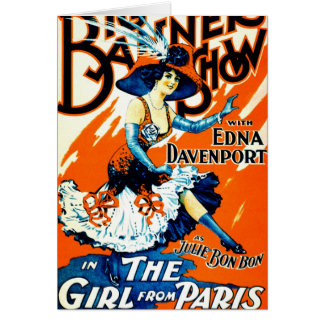 Julie Bonbon the Girl From Paris 1910 Greeting Card