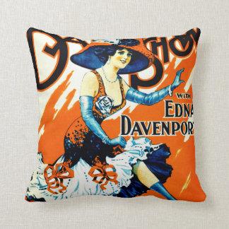Julie Bonbon the Girl From Paris 1910 Throw Pillow
