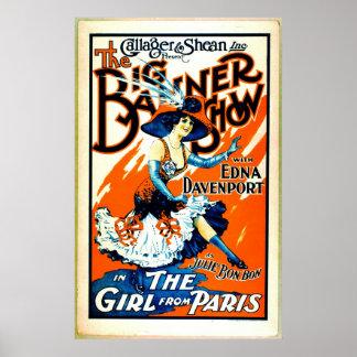 Julie Bonbon the Girl From Paris 1910 Poster