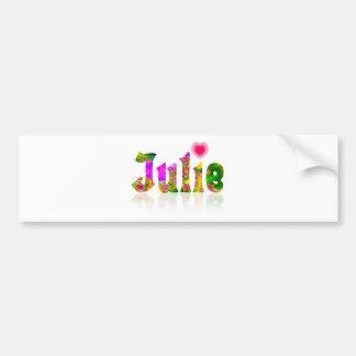 Julie Bumper Sticker