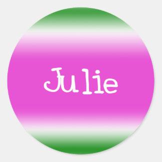 Julie Classic Round Sticker