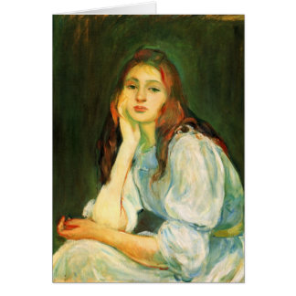 Julie dreaming by Berthe Morisot Cards