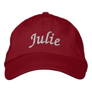 Julie Embroidered Baseball Hat