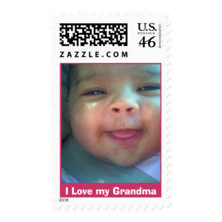 julie jpg I Love my Grandma Postage Stamp