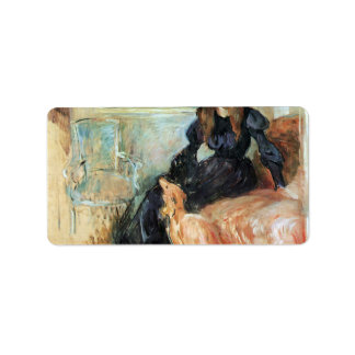 Julie Manet and her greyhound Laertes by Morisot Custom Address Label