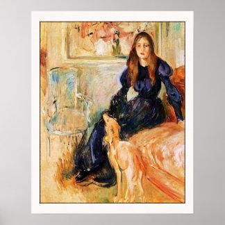 Julie Manet and Her Greyhound Laertes Poster