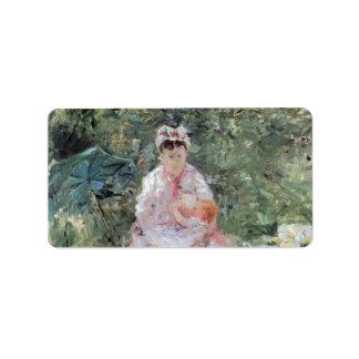 Julie Manet by Berthe Morisot Address Label