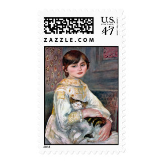 Julie Manet (Child With Cat) Renoir Postage