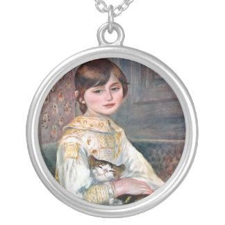 Julie Manet (Child With Cat) Renoir Silver Plated Necklace