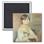 Julie Manet with Cat, 1887 2 Inch Square Magnet