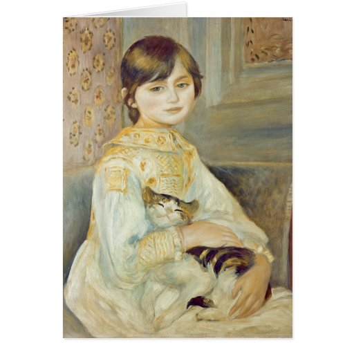 Julie Manet with Cat, 1887 Card