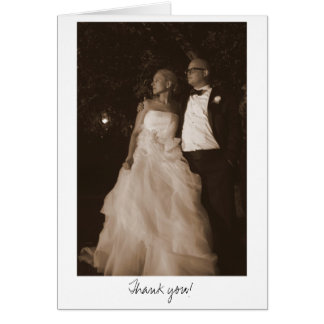 Julie -n- Matt Wedding 4x6 (sepia)-335, Thank you! Greeting Card