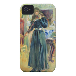 Julie playing violin by Berthe Morisot iPhone 4 Case-Mate Cases