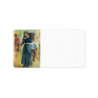 Julie playing violin by Berthe Morisot Personalized Address Labels