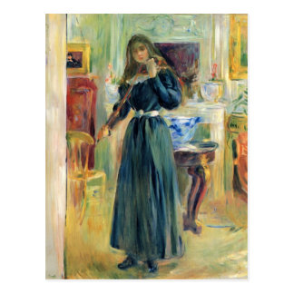 Julie playing violin by Berthe Morisot Postcards