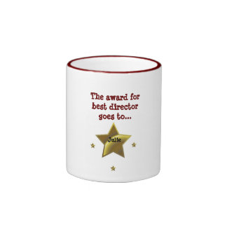 Julie: The Award For Best Director Ringer Coffee Mug