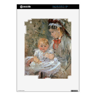 Julie with her nurse by Berthe Morisot Skin For The iPad 2