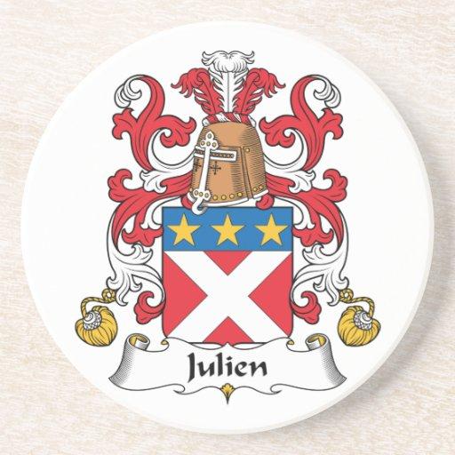Julien Family Crest Drink Coaster