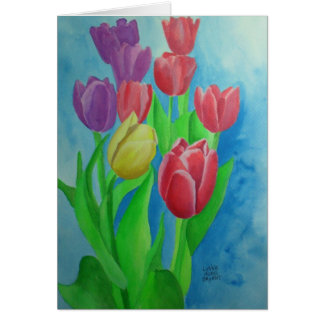Julie's Tulip Garden Card