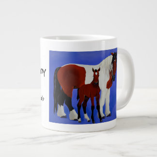 Juliet and Vinny Equine Art coffee mug 20 Oz Large Ceramic Coffee Mug