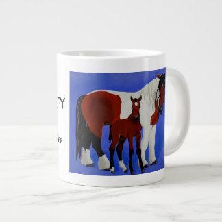 Juliet and Vinny Equine Art coffee mug 20 Oz Large Ceramic Coffee Mug