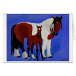 Juliet and Vinny Equine Art greeting card