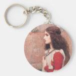 Juliet Basic Round Button Keychain