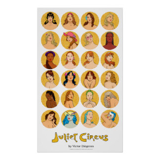 Juliet Circus Characters cookies Poster