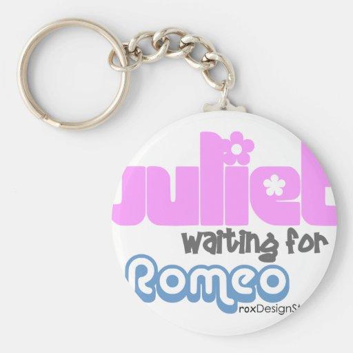 Juliet para Romeo que espera Llaveros Personalizados