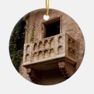 Juliet's Balcony Ceramic Ornament