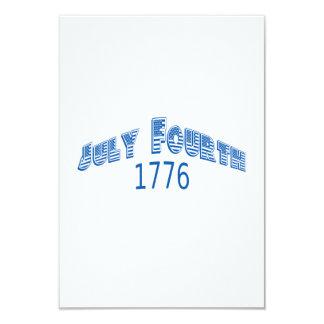 """Julio azul Fouth 1776 Invitación 3.5"""" X 5"""""""