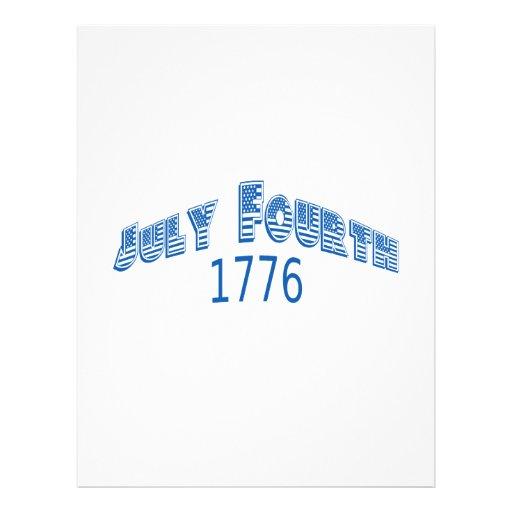 Julio azul Fouth 1776 Plantilla De Membrete