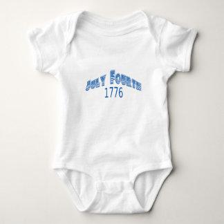 Julio azul Fouth 1776 Camisetas