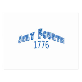 Julio azul Fouth 1776 Postales