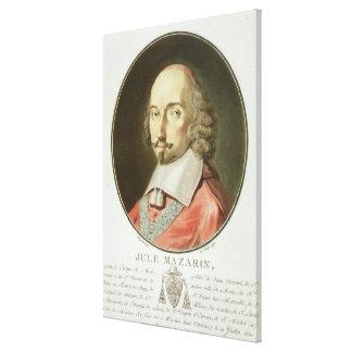 Julio cardinal Mazarin (1602-61) de los 'retratos  Impresión De Lienzo