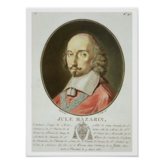 Julio cardinal Mazarin (1602-61) de los 'retratos  Póster