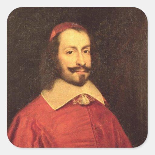 Julio cardinal Mazarin Pegatina Cuadrada