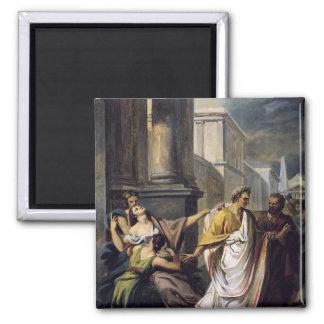 Julio César en su manera al senado Imán Cuadrado