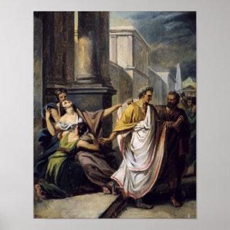 Julio César en su manera al senado Posters