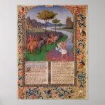 Julio César que cruza el Rubicon, c.1470 Poster