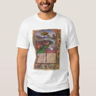 Julio César que cruza el Rubicon, c.1470 Remera
