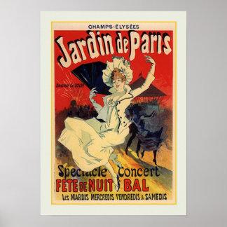 Julio Chéret anuncio 1890 Poster