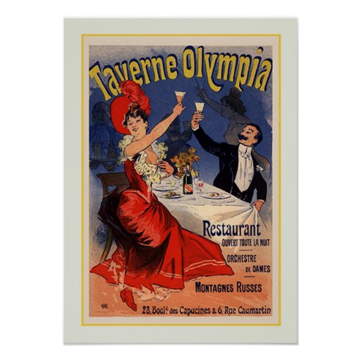 Julio Chéret, anuncio, 1890 Poster