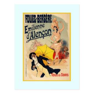 Julio Chéret, anuncio, 1890 Postal