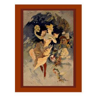 """Julio Cheret """"La Danse"""" 1891 Postal"""