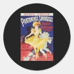 Julio Cheret Pantomimes Lumineuses Etiquetas Redondas