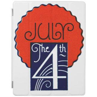 Julio el 4to Día de la Independencia patriótico Cover De iPad
