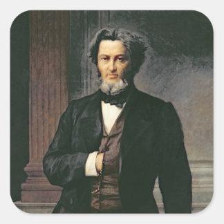 Julio Favre 1865 Pegatina Cuadrada